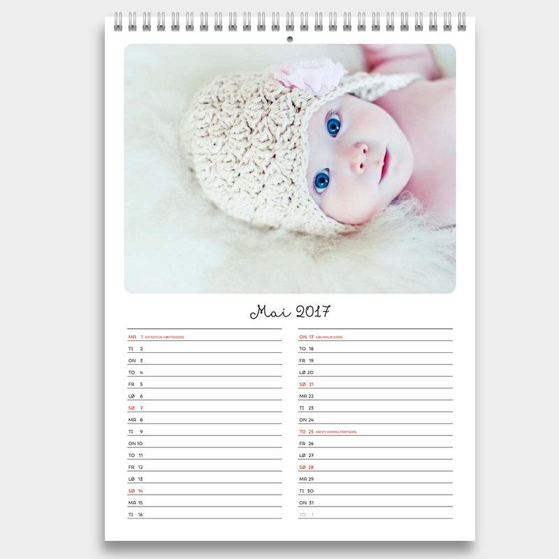 calendar 2016 med helligdage 2016